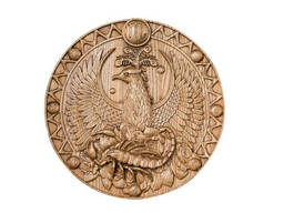 """Резьба по дереву """"знак зодиака Скорпион"""""""
