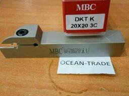 Резец с мех кр. МВС DKT-K-20х20-3C (отрезная пластина Korlo