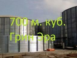 Резервуар на 700 кубов для жидкости, емкость 700 куб. м.