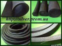 Резина губчатая (пористая) пластина, шнур, профиль (изготовл