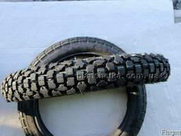 Резина на мотоцикл 3.00-18 шипованная камера восьмислойная