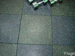 Резиновая плита для залов спортзалов