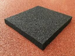 Резиновая плитка 500х500х35 мм.