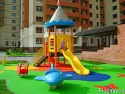 Резиновая плитка для детских и открытых спортивных площадок