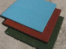 Резиновая плитка для детских площадок - фото 1