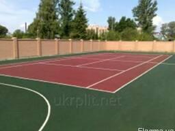 Резиновая плитка для открытых спортивных площадок в наличии