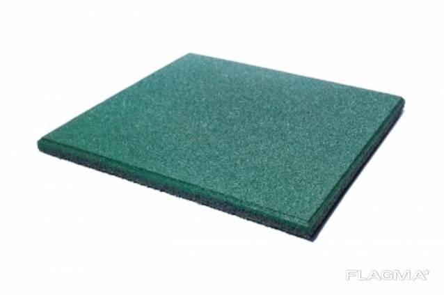 Резиновая плитка, гумова плита, покриття для спорту 20мм