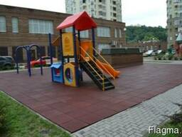 Резиновая плитка покрытие для детских площадок 1000х1000мм