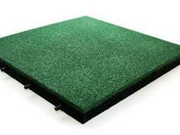 Резиновая плитка зеленая 500*500*20 мм