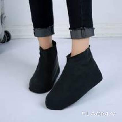 Резиновые бахилы на обувь от дождя