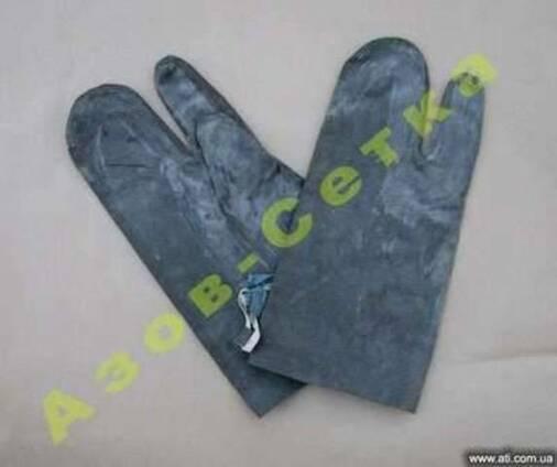 Резиновые перчатки БЛ-1 (костюм ОЗК), купить (цена)