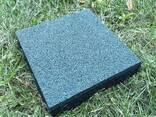 Резиновые полы, плитка 500х500х25 мм. - фото 1