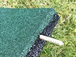 Резиновые полы, плитка 500х500х25 мм. - фото 5