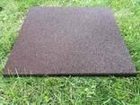 Резиновые полы, плитка 500х500х25 мм. - фото 7