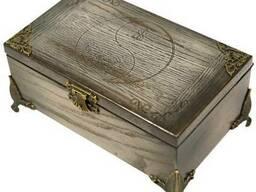 Резная деревянная шкатулка для денег Под заказ