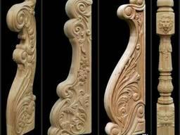 Резные столбы , балясины точенные, декоры из дерева