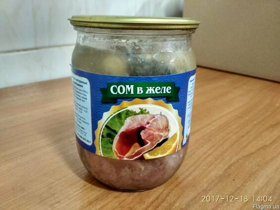 Риба консервована (Сом в желе)