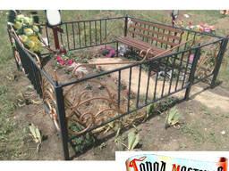 Ритуальные оградки на кладбище Украина