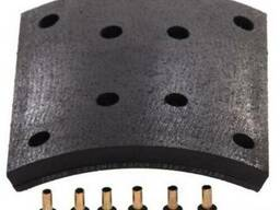 RL001982N10 Тормозні накладки RVI AE385 416х220 (1 рем)