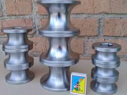 Ролики для трубогибу, роздвижних воріт під круглу та профільну трубу, токарка