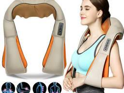 Роликовый массажер для шеи и плеч с ИК-прогревом Massager of Neck Kneading (3241)