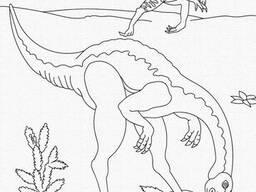 """Роспись на холсте. Art Craft """"Динозавры"""" 25х30 см (15524-AC)"""