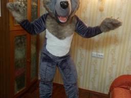 Пошив ростовой куклы волк под заказ для аниматора