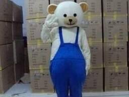 Ростовая кукла Медведь в комбинезоне пошив