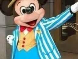 Ростовая кукла Микки Маус в голубом костюме