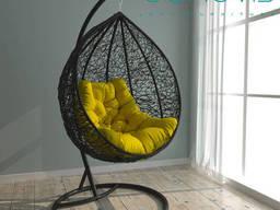 Ротанговое кресло качалка  Джессика Black для дома, сада. ..