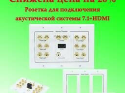 Розетка для подключения акустической системы 7.1 HDMI