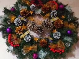 Рождественский венок Новогодние украшения