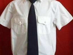 Рубашка форменная с коротким рукавом, белый цвет, пошив