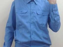 Рубашка форменная синяя с длинным / коротким рукавом