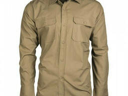 Рубашка с длинным рукавом Mil-Tec Field Shirt рип-стоп койот