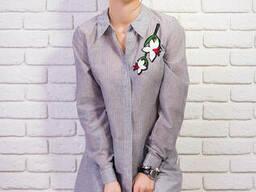 Рубашка женская туника с вышивкой 42-48 , доставка по. ..