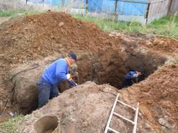 Ручная копка траншей под кабель, газ, воду, дренаж, фундамен