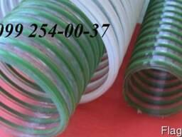 Рукав ПВХ напорно-всасывающий с ПВХ спиралью 75х85мм, 4 бар