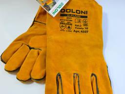 Рукавиці краги жовті Doloni