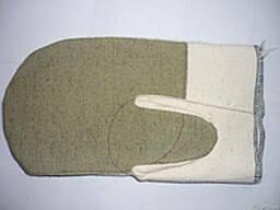 Рукавицы брезентовые комбинированные, двунитка брезент