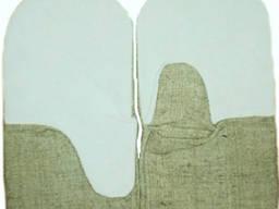 Рукавицы брезентовые со спилковыми наладонниками
