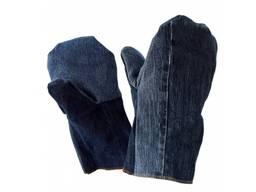 Рукавицы джинсовые