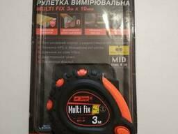 Рулетка измерительная 3м Dnipro-M(Multi Fix)