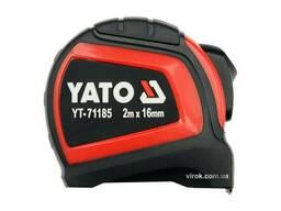 Рулетка сталева з нейлоновим покриттям YATO 2 м х 16 мм