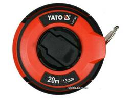 Рулетка сталева з нейлоновим покриттям YATO 20 м х 13 мм