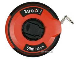Рулетка сталева з нейлоновим покриттям YATO 50 м х 13 мм