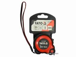 Рулетка YATO 3 м x 16 мм зі сталевою стрічкою і нейлоновим покриттям і подвійним. ..