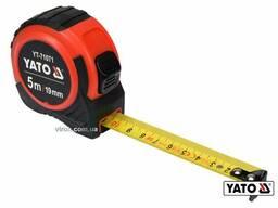 Рулетка YATO 5 м x 19 мм зі сталевою стрічкою і нейлоновим покриттям