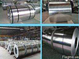 Рулонную сталь 0, 8-0, 9мм шириной 1000-1250мм