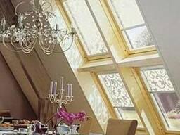 Рулонные шторы на мансардные окна.